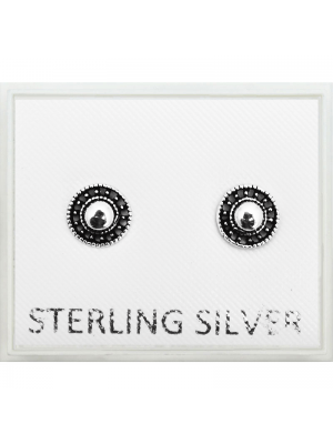 Sterling Silver Round Design Studs - 5mm