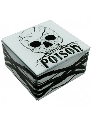 Poison Skull Jewellery Box 10x6x10cm