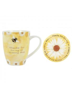 Mum Ceramic Mug and Coaster Set
