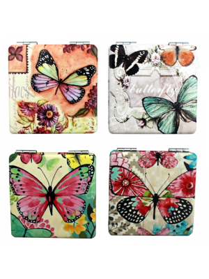 Butterfly Design Compact Mirrors - Assorted Designs