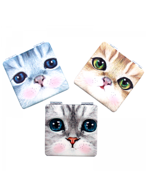 Cat Design Compact Mirrors - Assorted Designs