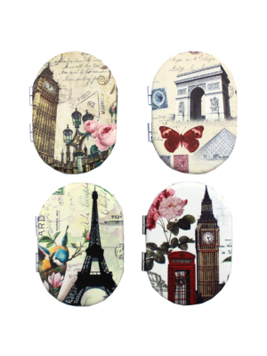 Vintage Design Compact Mirrors - Assorted Designs