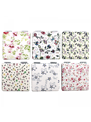 Floral Design Compact Mirrors - Assorted Designs