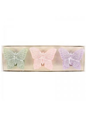 Novelty Butterfly Candles - Assorted Colours