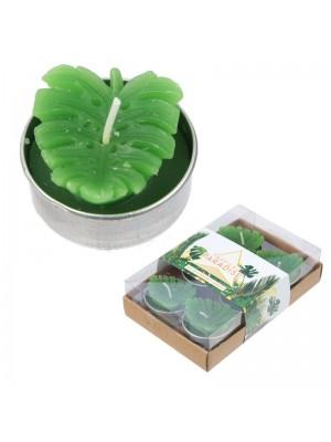 Cactus Tea Light Candles - Banana Leaf