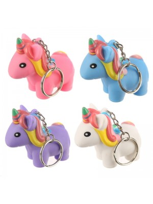 Squeezy Pooping Unicorn Keyring - Assorted Colours