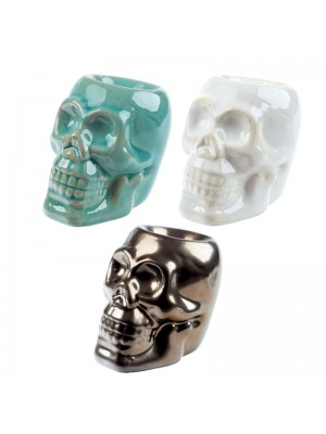 Ceramic Oil Burner - Skull
