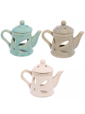 Ceramic Oil Burner - Teapot with Lid