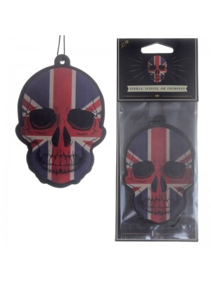 Vanilla Air Fresheners - Union Jack Flag Skull