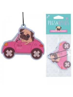 Strawberry Air Fresheners - Pugs & Kisses Design