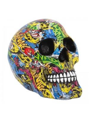 Graffiti Skull - 19cm