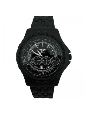 NY London Mens 4 Dial Design Watch - Black