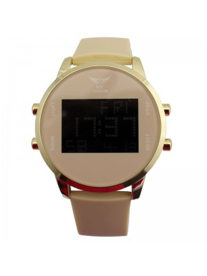 NY London Mens Watch With Silicone Strap - Beige