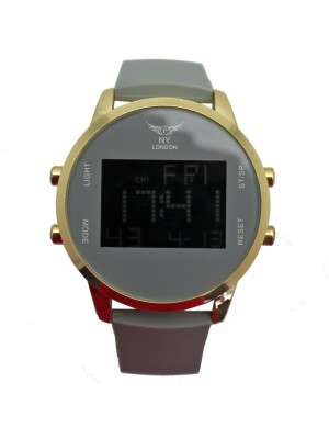 NY London Mens Watch With Silicone Strap - Grey