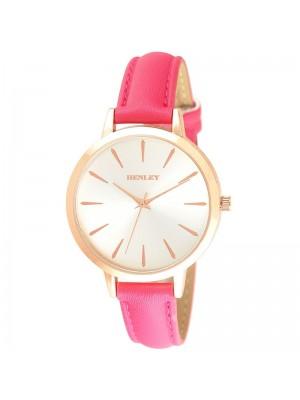 Henley Ladies Fashion Strap Watch - Hot Pink