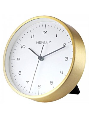 Henley Metal Table/Wall Clock - Gold - 15cm