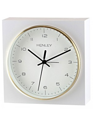 Henley Table/Wall Alarm Clock - Gold/White - 16.5cm