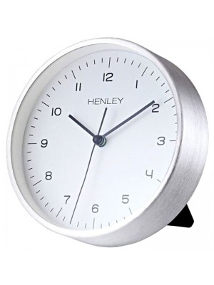 Henley Metal Table/Wall Clock - Silver - 15cm