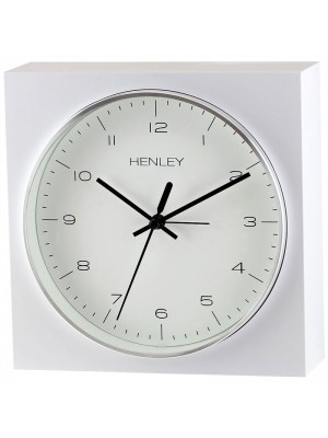 Henley Table/Wall Alarm Clock - Silver/White - 16.5cm