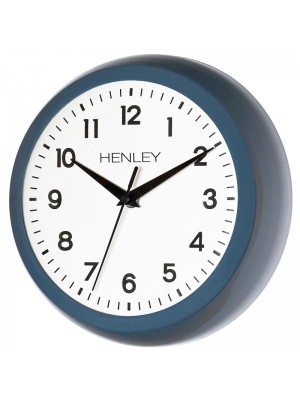 Henley Metal Wall Clock - Blue - 25cm