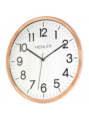 Henley Wall Clock - Copper - 33cm