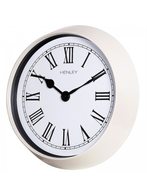 Henley Roman Numerals Wall Clock - Off White - 35cm