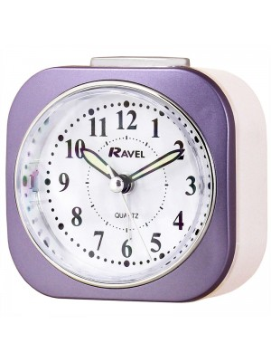 Ravel Quartz Alarm Clock - Purple