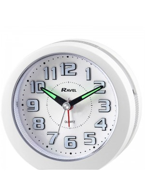 Ravel Quartz LED Alarm Clock - White