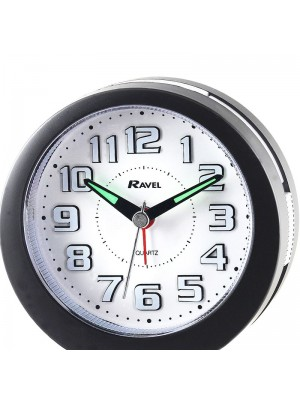 Ravel Quartz LED Alarm Clock - Black