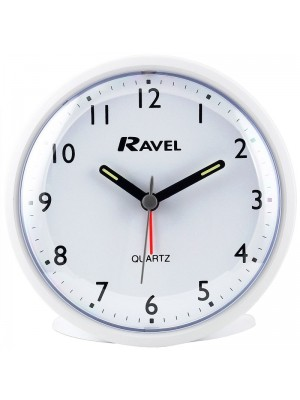 Ravel Quartz Alarm Clock - White