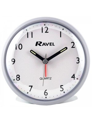 Ravel Quartz Alarm Clock - Grey