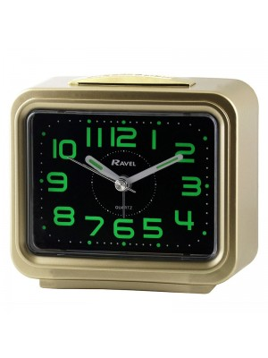 Ravel Quartz Alarm Clock - Gold