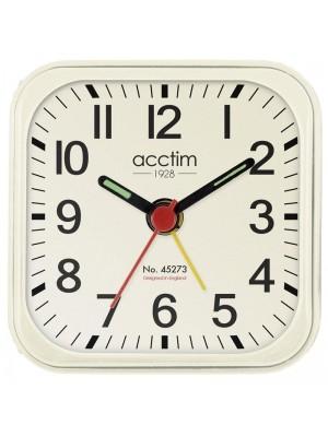 Acctim Mini Alarm Clock - White