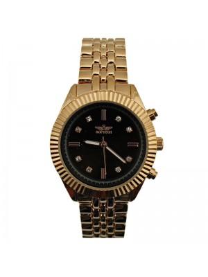 Softech Ladies Metal Strap Fashion Watch - Rose/Black