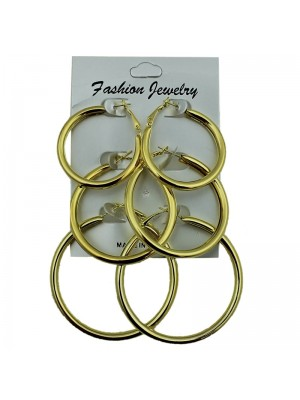 Gold Round Hoop Earrings - Assorted Sizes