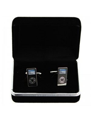 Gents Silver Cufflinks - MP3 Player
