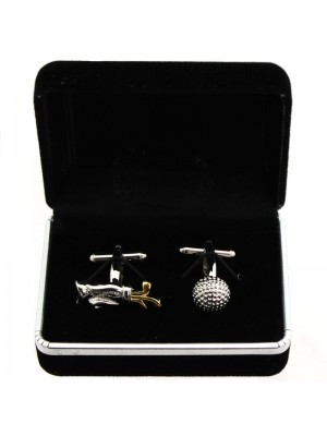 Gents Silver Cufflinks - Golf Equipment