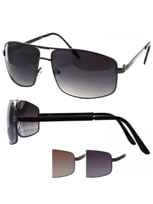 Unisex Double Bridge Sunglasses - Assorted Colours