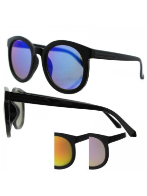 Ladies Round Sunglasses - Assorted Colours