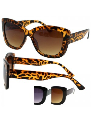 Ladies Cat Style Sunglasses - Assorted Colours
