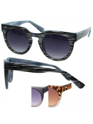 Ladies Wayfarer Sunglasses (Ombre Frame) - Assorted Colours