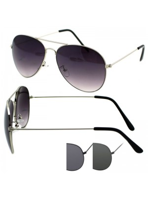 Mens Double Bridge Aviator Sunglasses - Assorted Colours