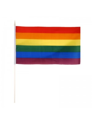 Gay Pride Rainbow Hand Flag - 29cm x 17cm