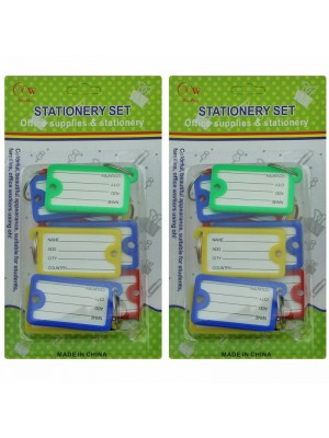 Office Stationery - Key Tags (Assorted Colours)