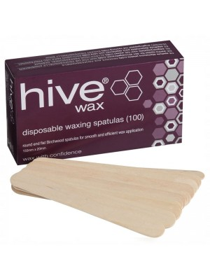 Hive of Beauty - Disposable Waxing Spatulas (15cm x 2cm)