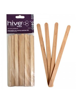 Hive of Beauty - Disposable Mini Waxing Spatulas (15cm x 1cm)
