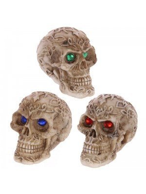 Mini Celtic Skulls with Gem Eyes
