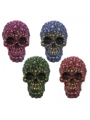Metallic Multi Skull Head