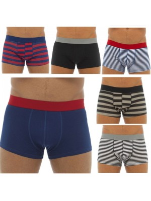 Mens Cotton Hipster Trunks - Assorted Colours & Sizes