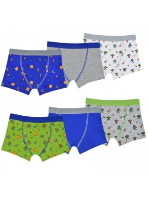 Boys Cotton Stretch Trunks - Assorted Colours & Sizes